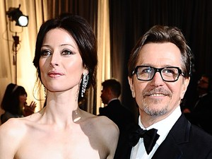 Gary Oldman and Alexandra Edenborough, Oscars 2012