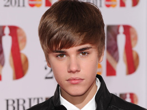 Justin Bieber at The Brit Awards, Press Room, O2 Arena, London, Britain - 15 Feb 2011