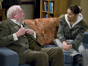 Sandy gets angry and throws Rachel out when she suggests that Ashley might not be looking after him well enough