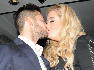 Gemma Collins and boyfriend Charlie The Only Way Is Essex wrap party held at the The Roof Gardens in Kensington London, England