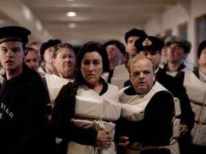 Titanic: Maria Doyle Kennedy as Muriel Batley and Toby Jones as John Batley