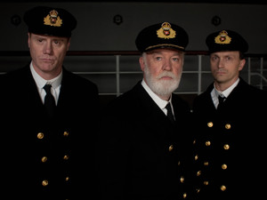 Titanic: 2nd Officer Charles Lightoller played by Steven Waddington, Captain Smith played by David Calder and Chief Officer Wilde played by Will Keen