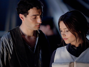 Titanic: Paolo Sandrini played by Glen Blackhall and Annie Desmond played by Jenna Louise Coleman