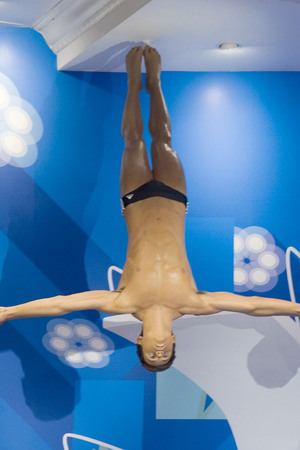 WAXWORK of Tom Daley at Madame Tussauds