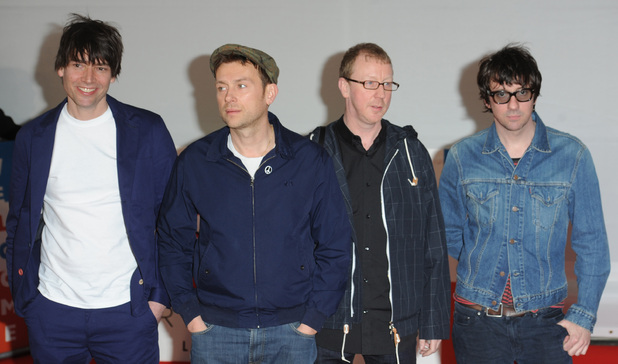 Blur at Brit Awards at O2 Arena, London, England- 21.02.12