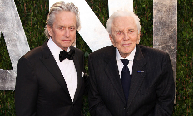 Michael Douglas and Kirk Douglas 2012 Vanity Fair Oscar Party at Sunset Tower Hotel - Arrivals West Hollywood, California - 26.02.12 Mandatory Credit: Brian To/WENN.com