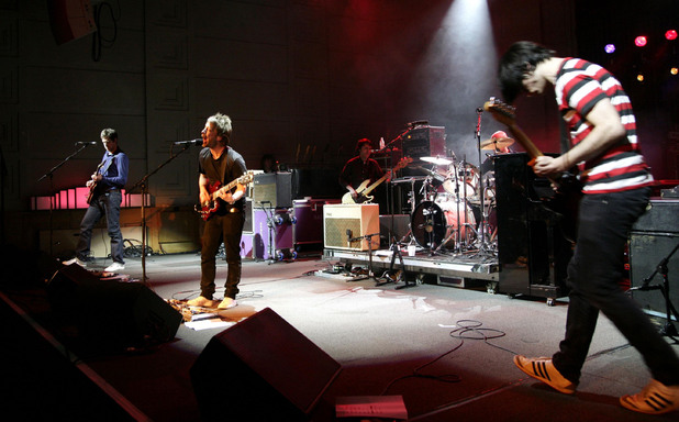 Radiohead perform in concert at the BBC Radio Theatre
