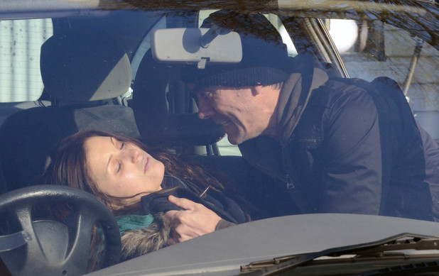 Cain Dingle (Jeff Hordley) rescues Holly Barton (Sophie Powles) after she has taken a heroin overdose