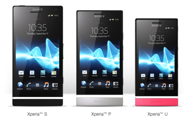 Sony Xperia S, P and U