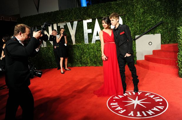 Selena Gomez and Justin Bieber at the 83rd Annual Academy Awards, Vanity Fair Party, Los Angeles, America - 27 Feb 2011