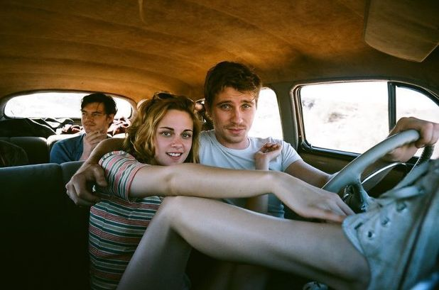 Sam Riley, Kristen Stewart and Garrett Hedlund in On the Road