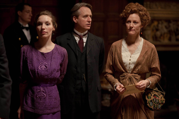 Titanic: Perdita Weeks as Georgina, Linus Roache as Hugh, Earl of Manton and Geraldine Somerville as Louisa, Countess of Manton