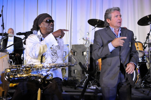 Clarence Clemons and Davey Jones