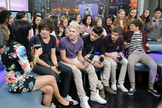 Harry Styles, Niall Horan, Zayn Malik, Liam Payne, and Louis Tomlinson One Direction's first-ever live Canadian television appearance on NEW.MUSIC.LIVE shut down the street outside Much HQ after thousands of screaming fans in attendance turned out to see the boyband Toronto, Canada