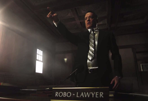 Jimmy Kimmel Movie trailer - Tom Hanks as Robo Lawyer