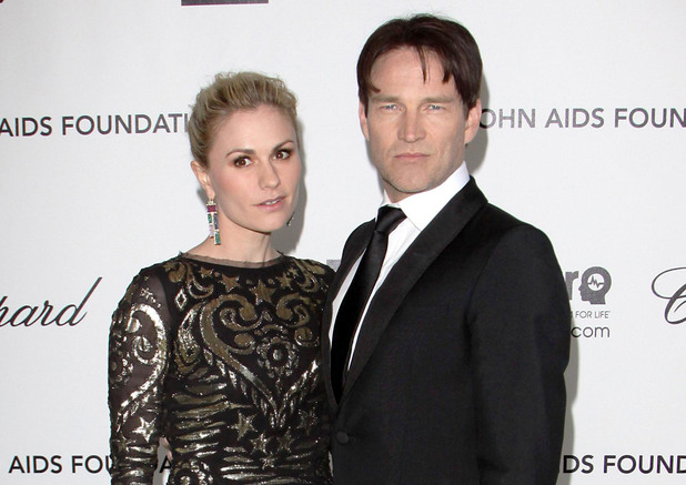 Anna Paquin, Stephen Moyer, Elton John's AIDS Foundation party