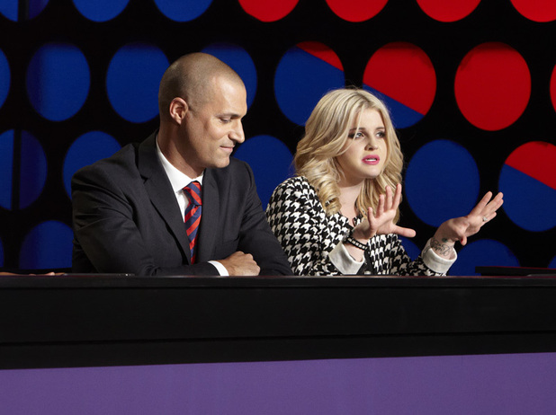 Guest judge Kelly Osbourne with Nigel Barker