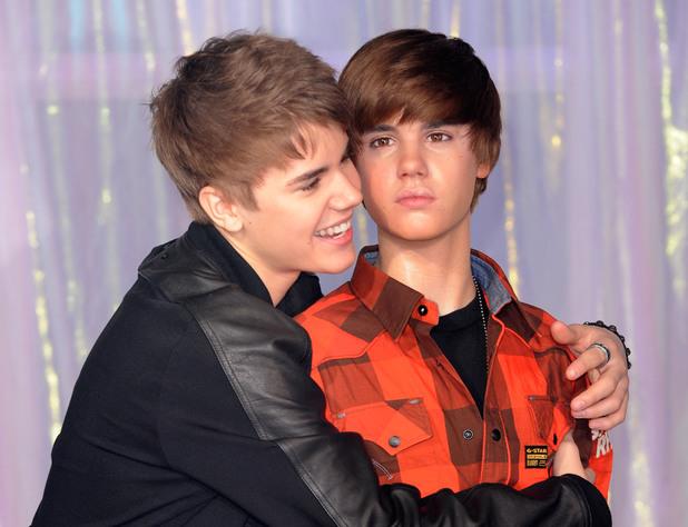 Justin Bieber unveils his waxwork model, Madame Tussauds, London, Britain - 15 Mar 2011
