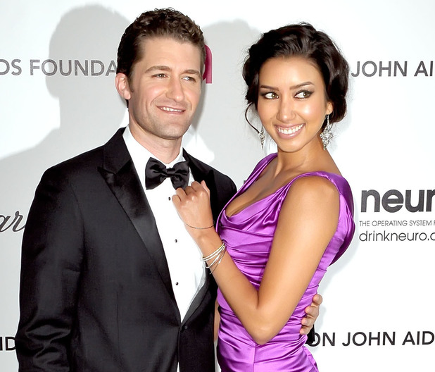 Matthew Morrison and Renee Puente The 20th Annual Elton John AIDS Foundation's Oscar Viewing Party held at West Hollywood Park - Arrivals