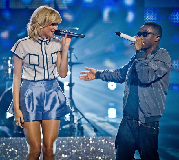 Tinchy Stryder and Pixie Lott perform