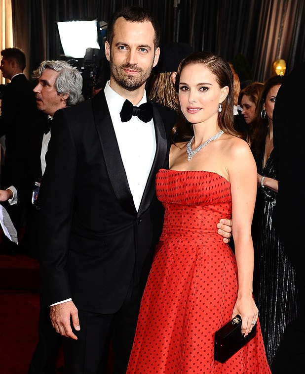 Benjamin Millepied and Natalie Portman at the 84th Academy Awards