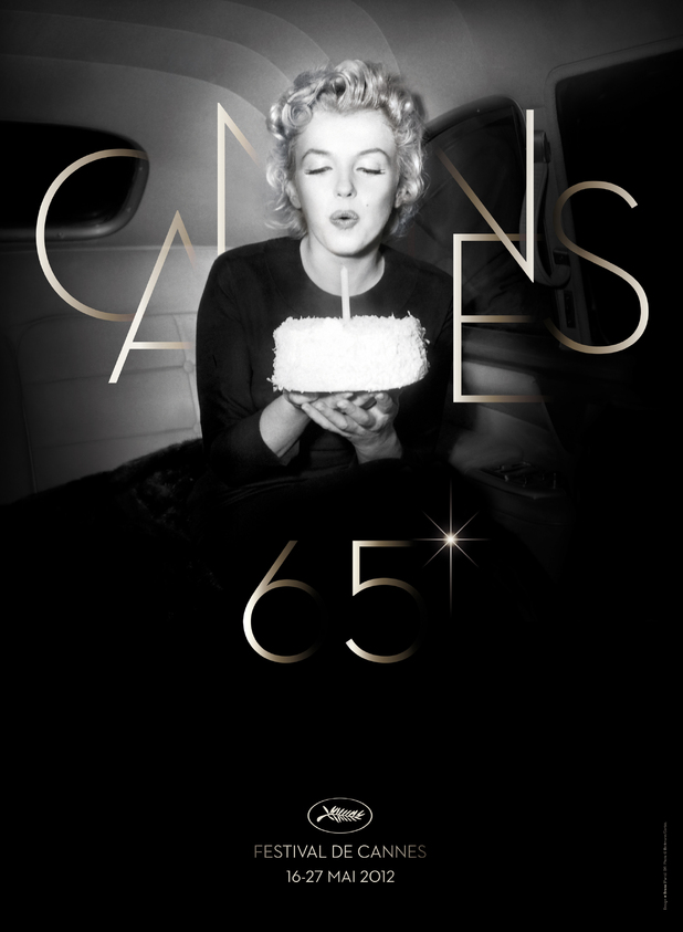 Marilyn Monroe on the poster for 65th Cannes Film Festival