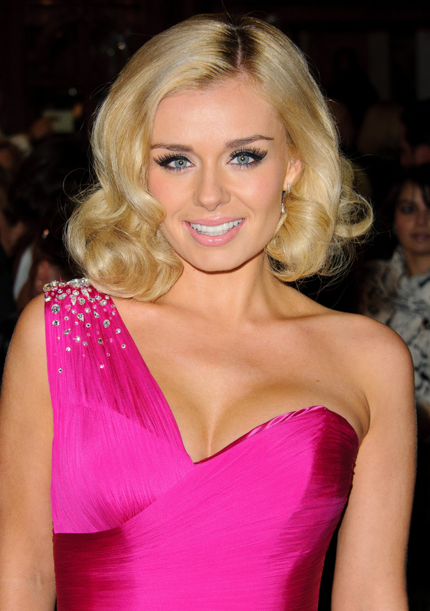 Katherine Jenkins The Macmillan Centenary Gala at the London Palladium - Arrivals. London, England