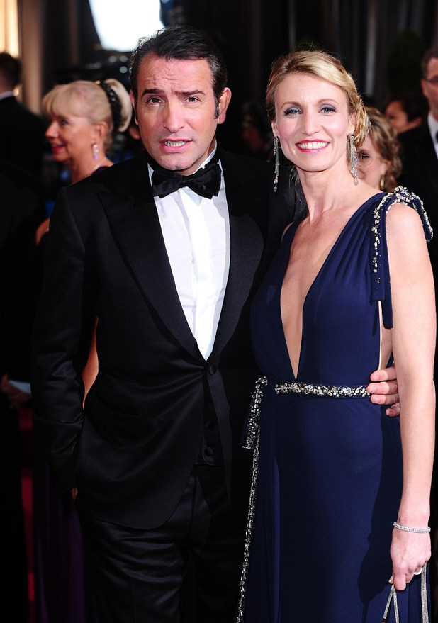 Jean Dujardin, Alexandra Lamy, Oscars 2012