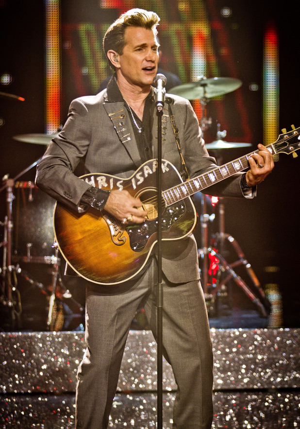 Chris Isaak performs