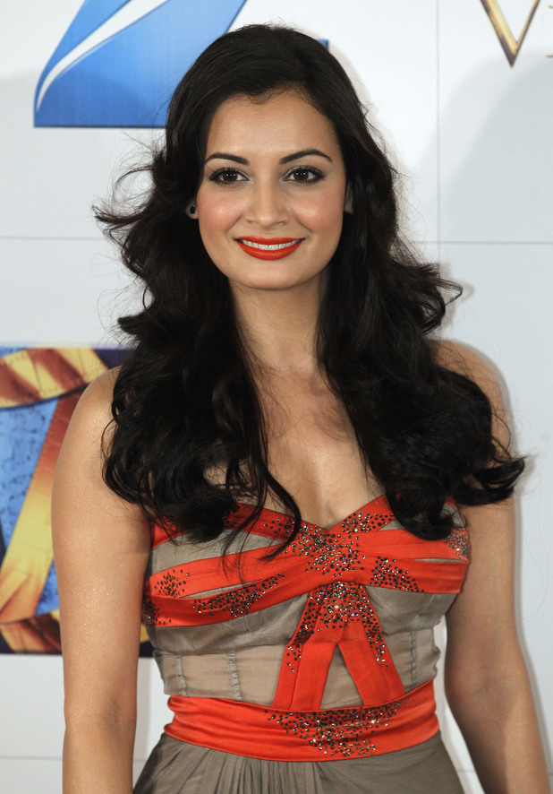 India's actress Dia Mirza poses