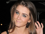 Brooke Vincent leaving Aura nightclub.