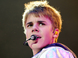 Justin Bieber in concert at the 02 Arena, London, Britain - 14 Mar 2011