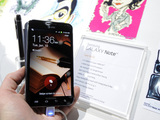 The Samsung Galaxy Note is displayed at the 2012 International Consumer Electronic Show in Las Vegas