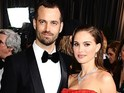 Actress and 'fiancé' Benjamin Millepied were spotted wearing wedding bands.