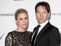 The married True Blood co-stars will welcome a child in autumn.