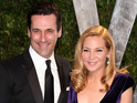 Jon Hamm describes why he loves long-time partner Jennifer Westfeldt.