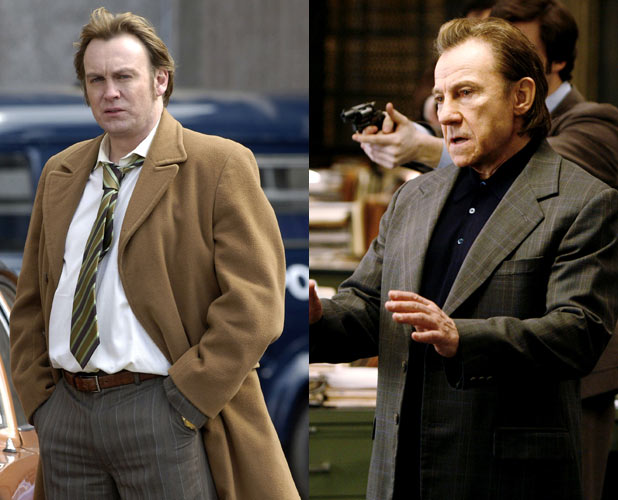 Philip Glenister and Harvey Keitel