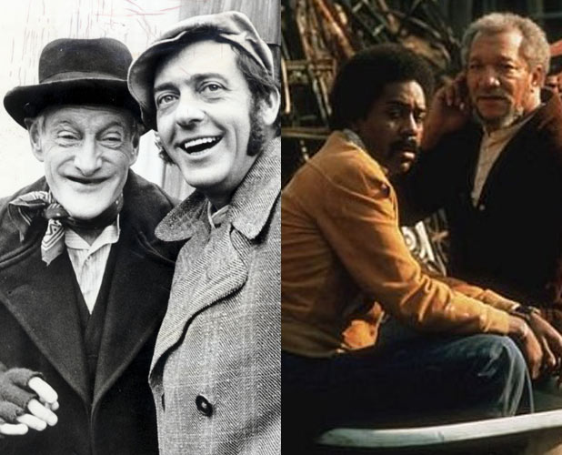 Wilfred Brambell, Harry H Corbett and Redd Foxx, Demond Wilson