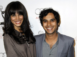 Kunal Nayyar and Neha Kapur arrive at the Academy of Television Arts and Sciences 21st Annual Hall of Fame Gala in Beverly Hills