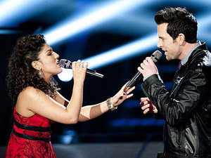 The Voice - Battle Round - Chris Mann v Monique Benabou