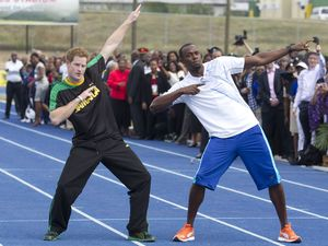 Usain Bolt, Prince Harry