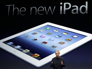 Apple CEO Tim Cook introduces the new iPad