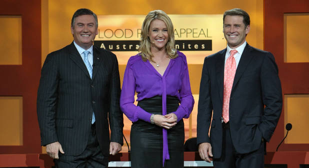 Nine Network Olympics Team: Eddie McGuire, Leila McKinnon and Karl Stefanovic