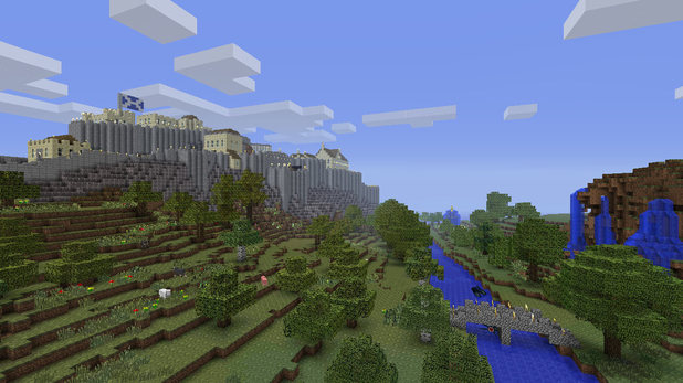 A screenshot of Minecraft on Xbox 360