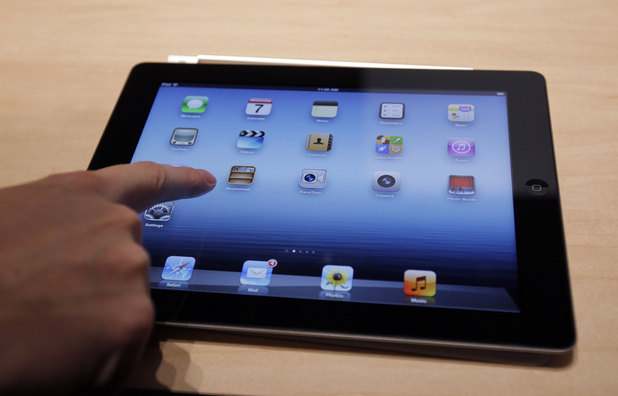 A new Apple iPad on display