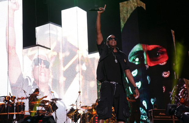 Jay-Z performs onstage at the Wireless Festival Hyde Park, London, July 4, 2010