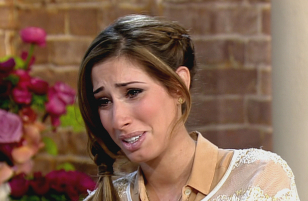 Stacey Solomon starts to cry when talking about being photographed smoking while pregnant seen on 'This Morning', shown on ITV
