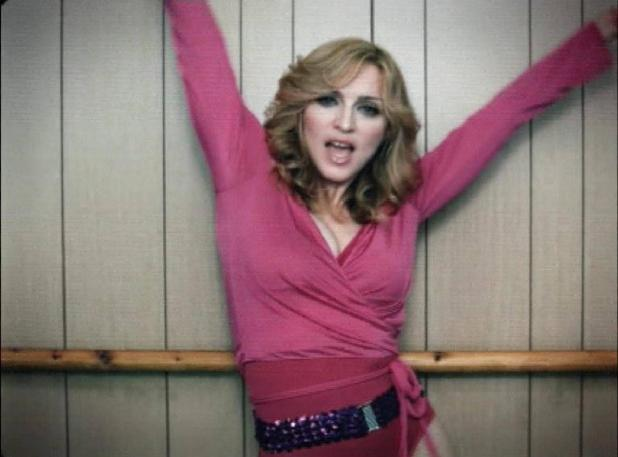 Madonna in 'Hung Up' music video