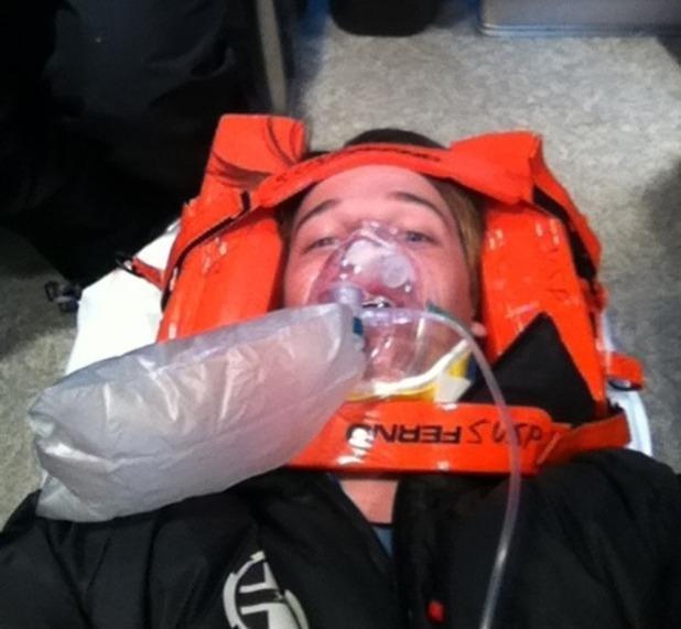 Patrick Schwarzenegger ski accident