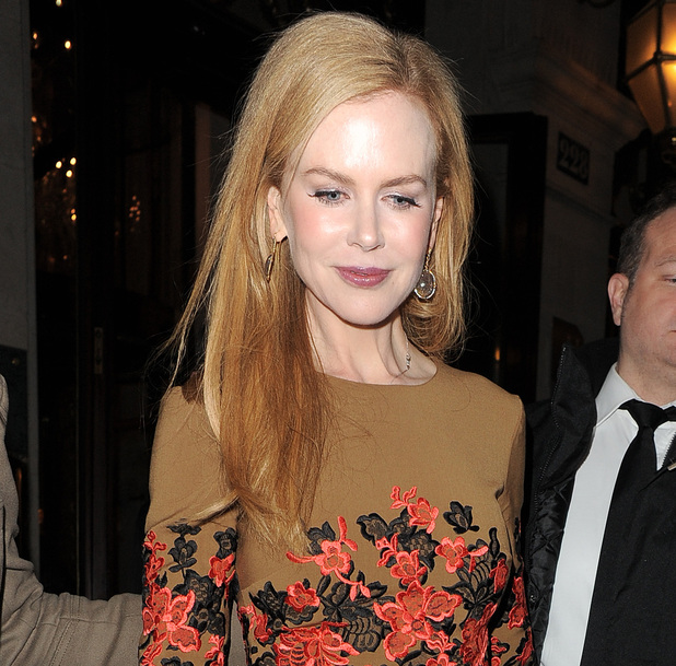 Nicole Kidman enjoys a night out at Laperouse restaurant and wine bar, appearing a little unsteady on her feet as she leaves, after spending around two hours inside the venue. Paris, France